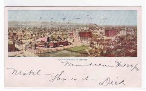 Panorama Denver Colorado 1904 postcard