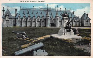 Drill Hall, Quebec, Canada, Early Postcard, Used in 1926