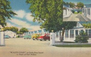 FORT WALTON, Florida, 1930-40s; 98 Auto Court on Santa Rosa Sound