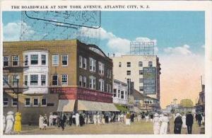 New Jersey Atlantic City The Boardwalk At New York Avenue