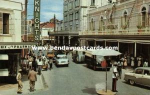 barbados, BRIDGETOWN, Broad Street, Traffic Police, Car Bus (1960)