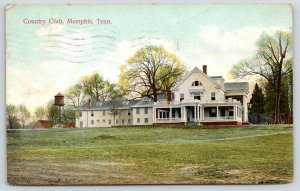 Memphis Tennessee~Country Club~Wrap Around Porch~Water Tower~1908 Postcard
