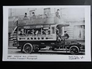 Omnibus LONDON ARROW BUS (STRAKER) Pamlin Print Postcard No.M869