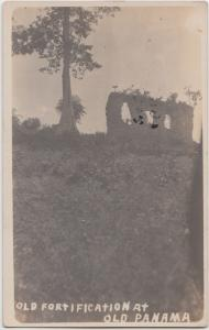 Panama Postcard c1910 OLD FORTIFICATION Ruins Real Photo RPPC