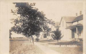 Williams Iowa~Trees Along Sidewalk~Homes on Dirt Street RPPC 1909 Postcard PC