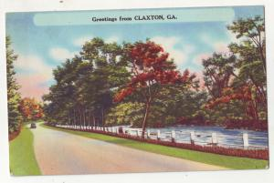 P643 JLs Linen (1930-1945) view greetings from claxton ohio