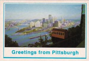 Duqesne Incline And The Point At Pittsburgh Greetings From Pittsburgh Pennsyl...