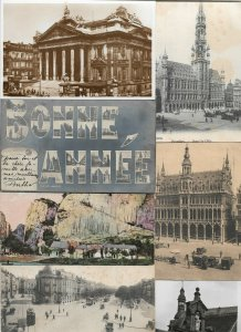 Belgium - Antwerp Ghent and more Postard Lot of 35 with RPPC 01.01