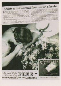 Listerine Fresh Breath Bride Wedding Advertising Postcard