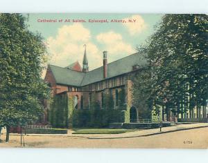 Divided-Back CHURCH SCENE Albany New York NY p5345