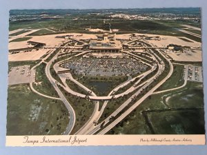 Vintage postcard aerial view of Tampa International Airport in Tampa, FL (FL-6)