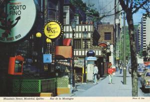 Rue de la Montagne Mountain Street Montreal Quebec Porto Fino c1980 Postcard D20