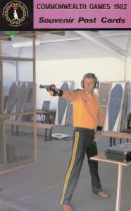 Noel Ryan Shooting Free Pistol Australia 1982 Commonwealth Games Postcard