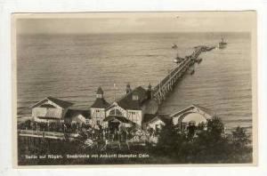 RP  Sellin auf Rugen. Seebrucke mit Ankunft Dampfer  ODIN , 00-10s Steamboat ...