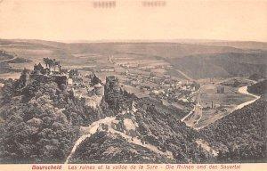 les ruines et la vallee de la Sure Bourscheid Writing on back
