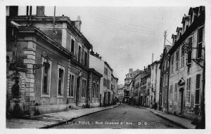 Toul, France, Rue Jeanne d'Arc, early real photo postcard unused