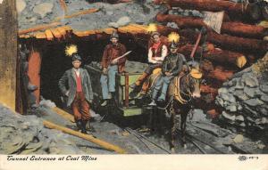 Pennsylvania~Miners in Light Hats~Tunnel Entrance to Coal Mine~c1907IPCC 25-3