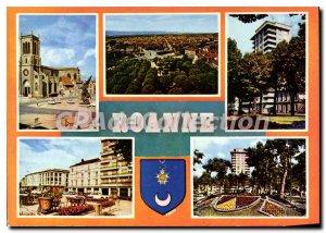 Modern Postcard Roanne Church of Saint Etienne Bridge Walks and Faubourg Muls...