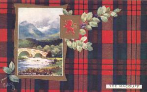 LOCHNAGAR, Scotland, 1900-1910´s; Macduff Coat of Arms, Tartan Border