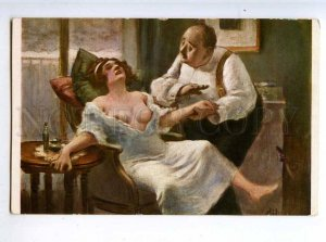 225658 FRANCE Guillaume Tantrum Lapina #857 Nude old postcard