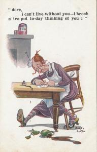 COMIQUE Series 3136; AS; DUDLEY BUXTON, 1900-10s; Overwhelmed Woman