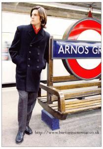 Postcard BURTON Menswear Promotional Advertising Card #210