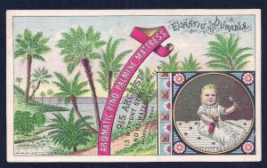 VICTORIAN TRADE CARD Aromatic Pino-Palmine Mattress Company