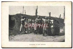 Postcard Old Army of Defense & # 39A road