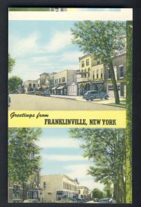 Franklinville, New York/NY Postcard, Downtown,Error Postcard