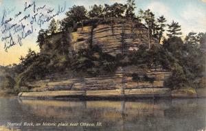 Ottawa Illinois~Starved Rock An Historic Place~1909 Postcard