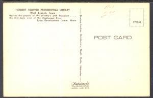 Greetings From Iowa Herbert Hoover Presidential Library,West Branch,IA BIN