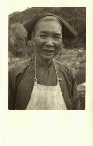 china, Old Native Chinese Woman (1920s) Ingenohl's Real Photo Postcard