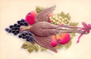Pheasant on the table with fruit Bird Unused
