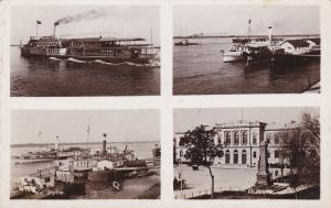 RP: Pyce-- Roustchouk , Bulgaria , 1937 ; Steamships & Town Square