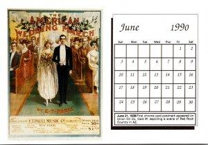 1990 Sheet Music Calendar Series June The American Wedding March
