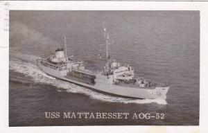 U S S Mattabesset AOG-52 1962 Real Photo