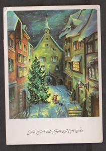 New Year Greetings - Sweden - Painting By Irine Schricker - Used - Corner Wear