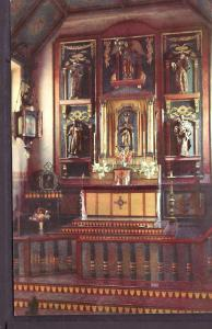 San Gabriel Mission Altar CA Union Oil Post Card PC2403