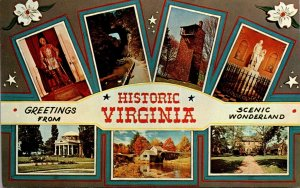 Virginia Williamsburg Greetings With Multi View