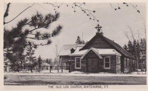 RP: WHITEHORSE, Yukon Territory, Canada, 1900-10s; The Old Log Church