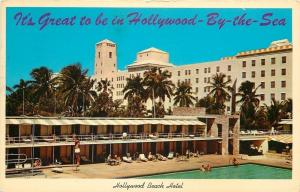 Hollywood by the Sea Florida~Hollywood Beach Hotel~1965 Postcard