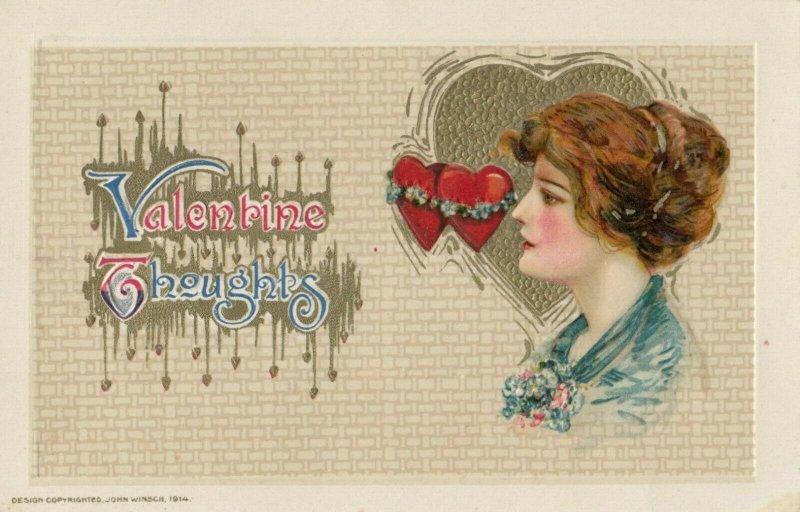 John Winsch 1914 ; VALENTINE ; Head Portrait #3