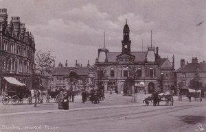 BUXTON, Derbyshire, England, UK, PU-1906; Market Place, TUCK # 1599