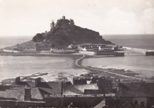 RP; CORNWALL, England, 1930s; St. Michael's Mount, Low Water