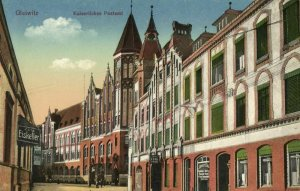 poland, GLEIWITZ GLIWICE, Kaiserliches Postamt, Post Office (1910s) Postcard