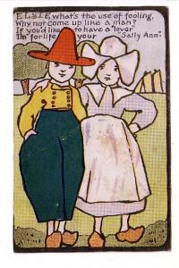 Deco Style Dutch Man and Woman, 'Sally Ann