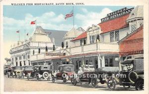 Savin Rock, Connecticut, CT, USA Postcard Wilcox's Pier Restaurant Unused