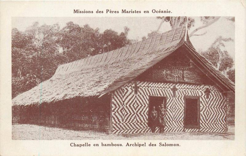 South Pacific Oceania Solomon Islands Bamboo Chapel Missions Peres Maristes