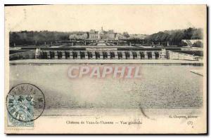 Old Postcard Chateau of Vaux le Vicomte General view
