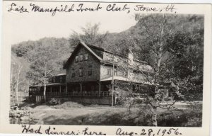 RP: STOW , Vermont , 1956 ; Lake Mansfield Trout Club